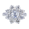 1.16 ct. Round Cut Central Cluster Ring, D, SI2 #3