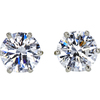 0.73 ct. Round Cut Stud Earrings, F, VS2 #1