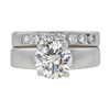 2.1 ct. Round Cut Bridal Set Ring, J, SI2 #3