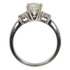1.27 ct. Round Cut 3 Stone Ring, M, I1 #4