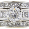 1.12 ct. Round Cut Bridal Set Ring, I, I3 #4