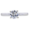 0.72 ct. Round Cut Solitaire Ring, G, SI1 #3