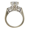 1.47 ct. Round Modified Brilliant Cut Bridal Set Ring, H, I1 #4