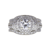 1.01 ct. Round Cut Bridal Set Ring, D, I1 #3