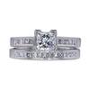0.71 ct. Princess Cut Bridal Set Ring, G, SI1 #3
