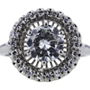 1.35 ct. Round Cut Halo Ring #4