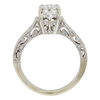 0.93 ct. Round Cut Bridal Set Ring, D, VVS2 #4