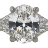 2.11 ct. Oval Cut 3 Stone Ring, G, SI1 #3