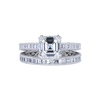 1.57 ct. Square Emerald Cut Bridal Set Tacori Ring, I, VVS2 #3