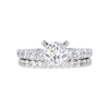 1.02 ct. Round Cut Bridal Set Ring, K, SI2 #3