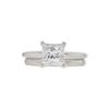 1.32 ct. Princess Cut Bridal Set Ring, G, VVS2 #3