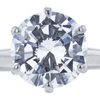 3.12 ct. Round Cut Solitaire Ring, F, SI1 #4