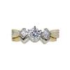 0.70 ct. Round Cut Bridal Set Ring, G, SI1 #3