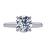 2.06 ct. Round Cut Solitaire Ring, G, VS2 #3