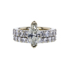 1.40 ct. Marquise Cut Bridal Set Ring, K, SI2 #3
