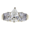 1.56 ct. Pear Cut Solitaire Ring, H, I1 #3