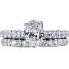 1.02 ct. Oval Cut Bridal Set Ring, H, VS1 #3