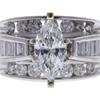 0.97 ct. Marquise Cut Bridal Set Ring, I, I1 #1