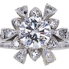 1.10 ct. Round Cut Central Cluster Ring #1