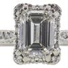 1.01 ct. Emerald Cut Bridal Set Tacori Ring, G, VS2 #4