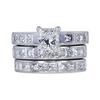 1.30 ct. Princess Cut Bridal Set Ring, G, VS2 #1