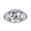 1.87 ct. European Cut 3 Stone Ring #1