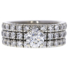 0.67 ct. Round Modified Brilliant Cut Bridal Set Ring, G, SI1 #3