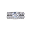 1.07 ct. Round Cut Bridal Set Ring, G-H, I1-I2 #1