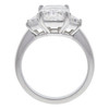 3.06 ct. Radiant Cut 3 Stone Ring, H, SI1 #3