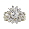 Art Deco GIA 1.08 ct. Round Cut Central Cluster Ring, J, VS2 #3
