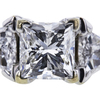 1.04 ct. Princess Cut 3 Stone Ring, G, I1 #4