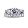 0.91 ct. Round Cut Bridal Set Ring, F, VS1 #2