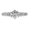 0.84 ct. Round Cut Solitaire Ring, H, SI1 #3