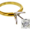 2.06 ct. Princess Cut Solitaire Ring #4