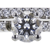 0.91 ct. Round Cut Bridal Set Ring, F, VS1 #4