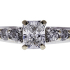 0.71 ct. Radiant Cut Solitaire Ring, E, VS2 #4