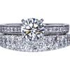 0.90 ct. Round Cut Bridal Set Ring, G, VS1 #3