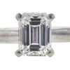 0.77 ct. Emerald Cut Bridal Set Ring, D, VS2 #4