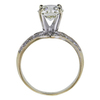 1.09 ct. Round Cut Bridal Set Ring, J-K, SI2-I1 #3