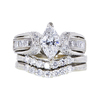 1.09 ct. Marquise Cut Bridal Set Ring #3