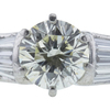 0.84 ct. Round Modified Brilliant Cut Bridal Set Ring, L, VS2 #4