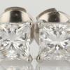 .83 ct. Princess Cut Stud Earring #1