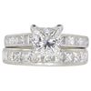 1.54 ct. Princess Cut Bridal Set Ring, F, VS1 #3