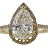 2.04 ct. Pear Cut Halo Ring #1