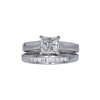 1.01 ct. Princess Cut Bridal Set Ring, H, SI1 #4