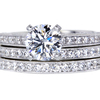1.26 ct. Round Cut Bridal Set Ring, F, VS2 #1