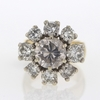 2.85 ct. Round Cut Central Cluster Ring #2
