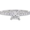 0.65 ct. Princess Cut Solitaire Ring, F-G, VS1 #2