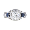 1.53 ct. Princess Cut 3 Stone Ring, G, I1 #3