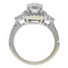 0.88 ct. Round Cut Bridal Set Ring, I-J, I1 #3